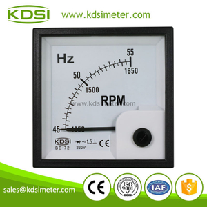 KDSI Factory direct sales BE-72 45-55HZ+RPM 220V analog panel  frequency speed meter