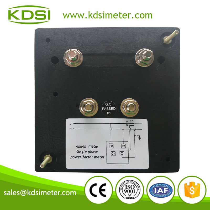 Hot Selling Good Quality BE-96 cos 1A 220V 0.5lead-1-0.5lag single phase power factor meter