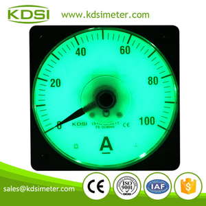 Wide angle marine meter LS-110 DC60mV 100A display current meter green backlight panel ammeter