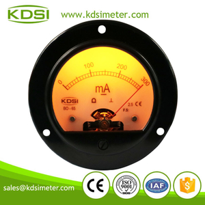 Classical BO-65 DC300mA analog gold backlighting panel milliammeter