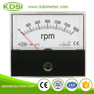 Original manufaturer Best Quality BP-670 DC30V 1800rpm panel analog rpm indicator