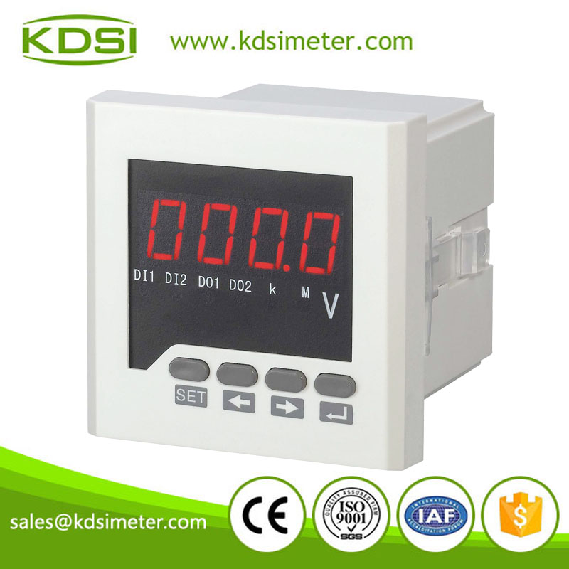 China Supplier 72x72mm BE-72 AV ac led single phase digital voltmeter