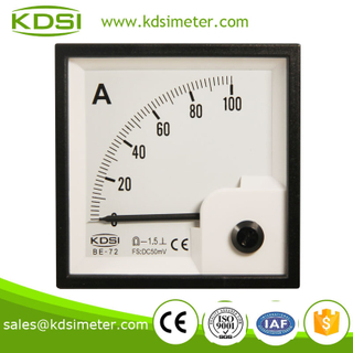 KDSI electronic apparatus BE-72 72*72 DC 50mV 100A ammeter and voltmeter