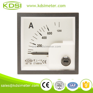 Mini type BE-48 AC Ammeter AC600/1A analog ac ampere meter