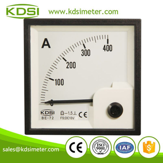 High quality professional BE-72 72*72 DC10V 400A analog dc voltage amp meter