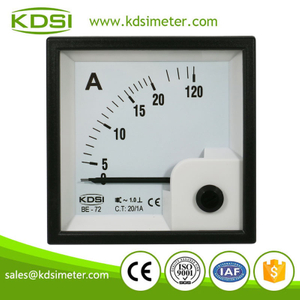 High quality professional BE-72 AC20/1A 6times overload CL1 analog panel ammeter amp meters