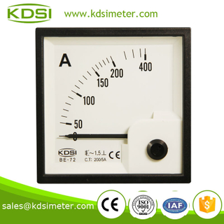 Taiwan technology BE-72 72*72 AC200/5A analog current meter