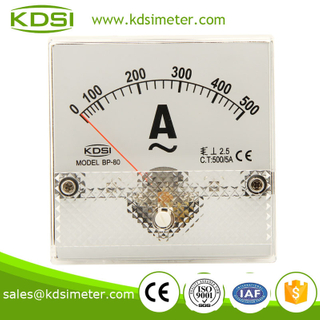 High quality professional BP-80 80*80 AC500/5A analog ampere meter