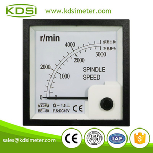 China Supplier BE-80 DC10V 3000 r/min analog panel spindle speed meter
