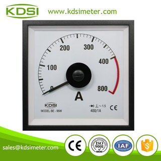 High quality marine meter BE-96W AC400/1A 2 times overload wide angle ampere meter