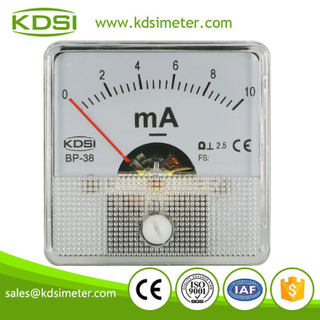 Factory direct sales mini BP-38 DC10mA analog panel dc milliammeter