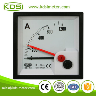 Factory direct sales BE-72 AC600/5A double pointer analog ac current panel meter