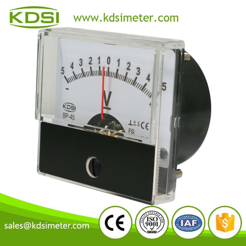 Factory direct sales BP-45 DC+-5V analog moving coil dc voltage meter