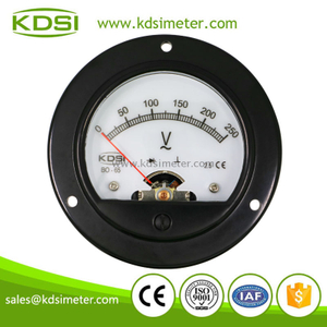 KDSI Round type BO-65 AC250V with rectifier for backlighting super mini analog voltmeter