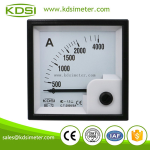 Square type portable precise BE-72 AC2000/5A analog ac current meter