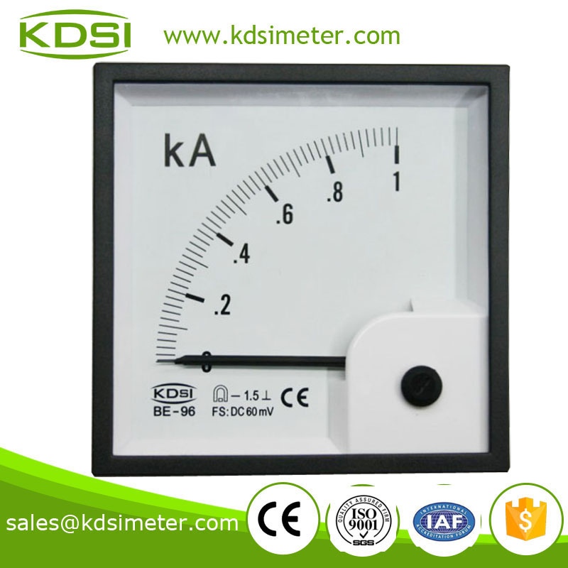 Industrial universal BE-96 96*96 DC60mV 1KA panel current meter