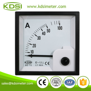 KDSI square type BE-72 AC50/1A ac analog amperemeter