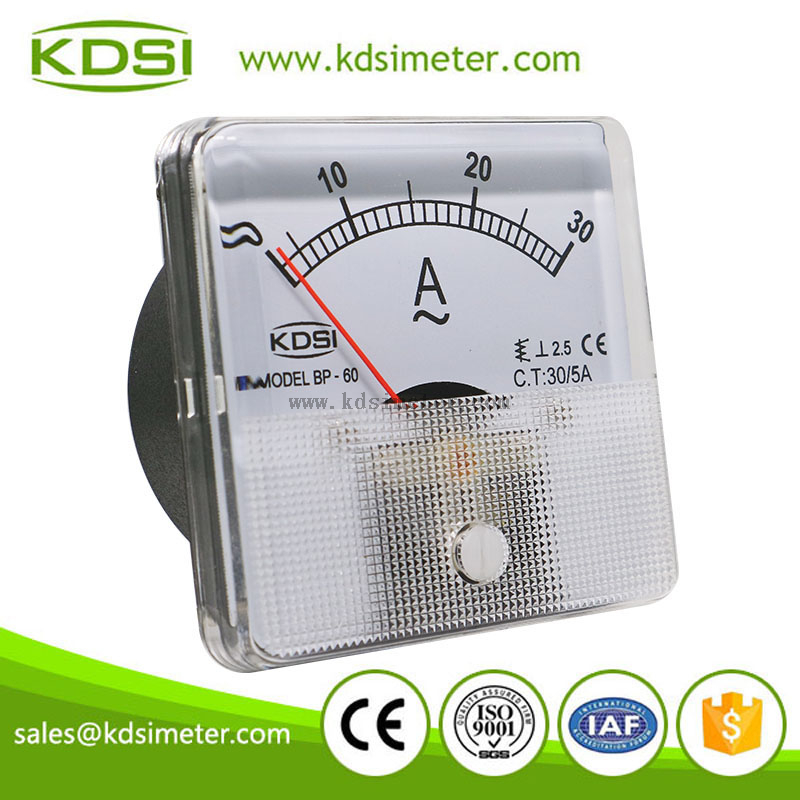 20 years Professional Manufacturer BP-60 AC30/5A panel analog ac ammeter