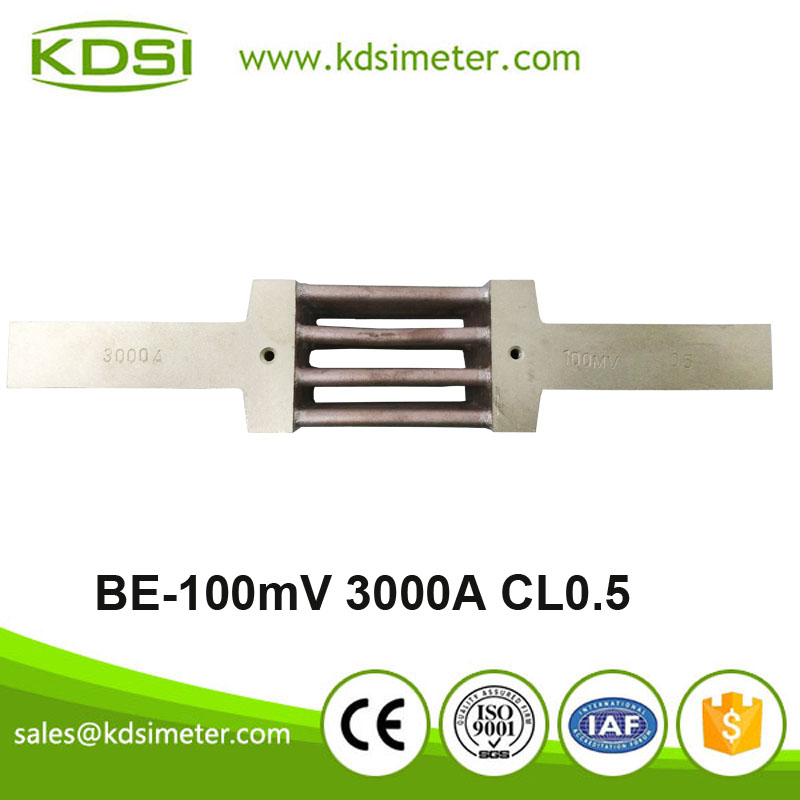 High quality New Electrical BE-100mV 3000A Current Shunt Resistor for dc ammeter