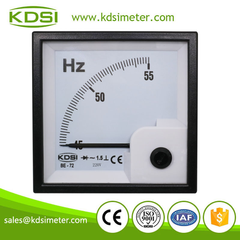 Hot Selling Good Quality BE-72 45-55Hz 220V analog Hz Hertz Frequency Meter
