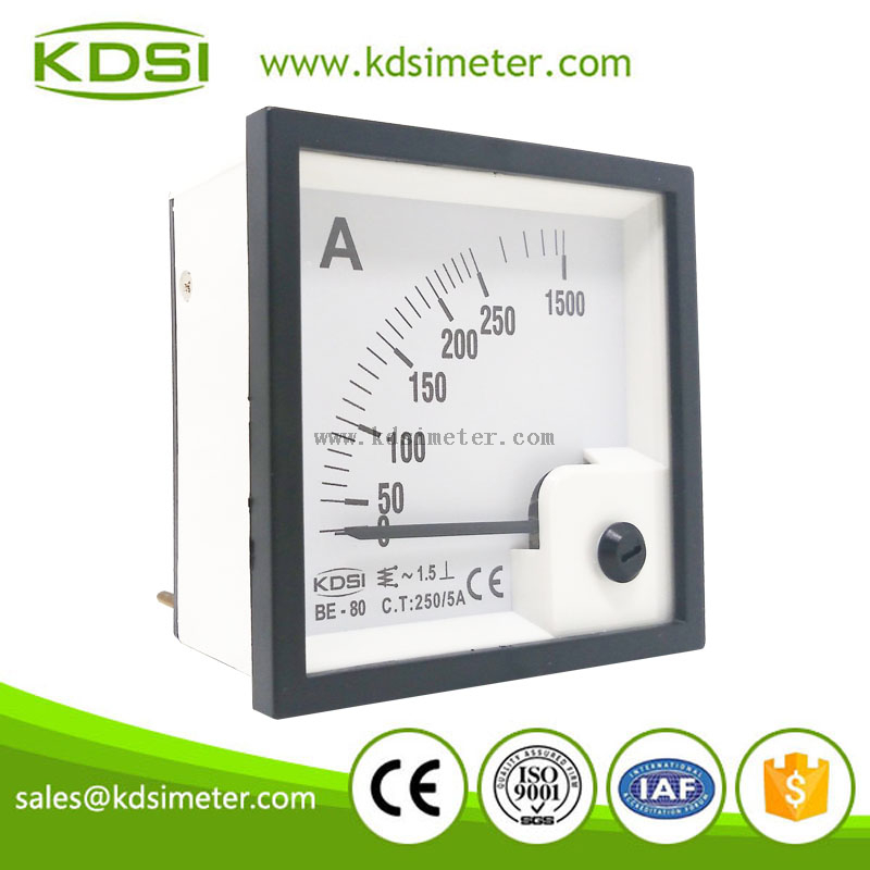 Factory direct sales BE-80 AC250/5A display 6times ac ammeter