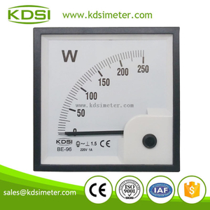 China Supplier BE-96 250W 220V 1A single phase watt panel meter