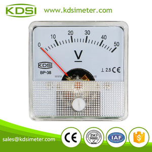 Classical high quality BP-38 DC Voltment DC50V analog panel mini voltmeter
