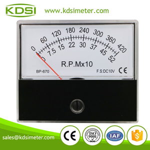 Great varieties BP-670 DC10V 420-52x10rpm analog rpm panel speedometer