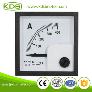 Hot Selling Good Quality BE-48 48*48mm DC4-20mA 400A analog panel ampere meter