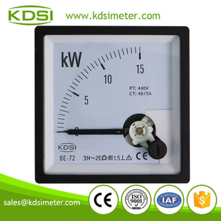Instant flexible BE-72 3P3W 15kW 440V 40-5A analog panel power meter