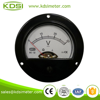 Small & high sensitivity BO-52 DC30V analog dc panel voltmeter