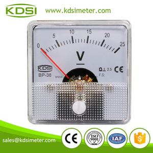 Small & high sensitivity BP-38 DC Voltment DC25V analog dc panel voltmeter