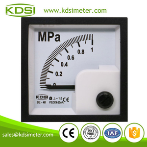 Durable in use BE-48 48*48mm DC4-20mA 1MPa analog panel current pressure marine meter