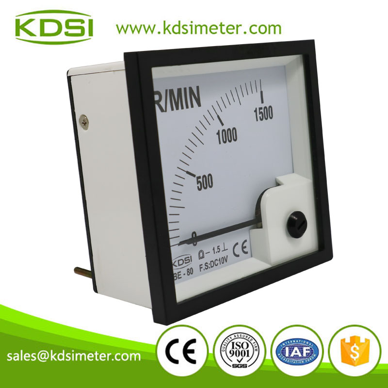 Portable precise BE-80 DC10V 1500 R-MIN panel analog voltage tachometer