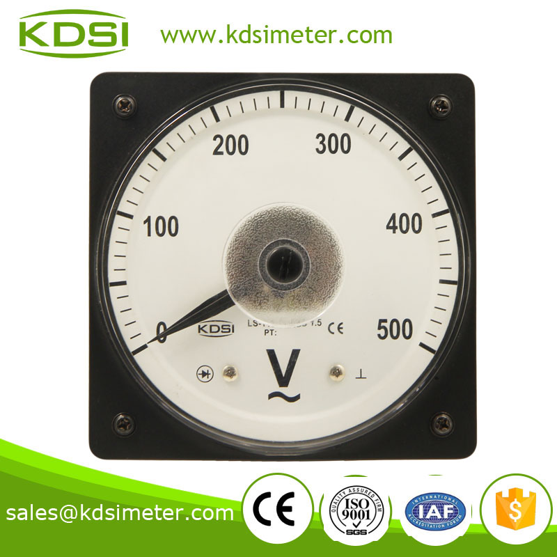 LS-110 AC Voltmeter AC500V wide angle AC analog panel meter