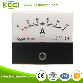 Square type BP-670 60*70 DC50A auto ammeter