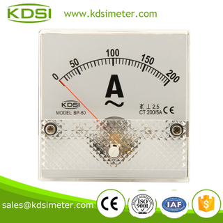 Small & high sensitivity BP-80 80*80 AC200/5A ammeter