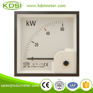 Taiwan technology BE-96 60KW 380V 100 / 5A analog wattmeter
