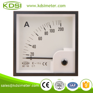 Square type BE-96 96*96 AC100A ac ammeter