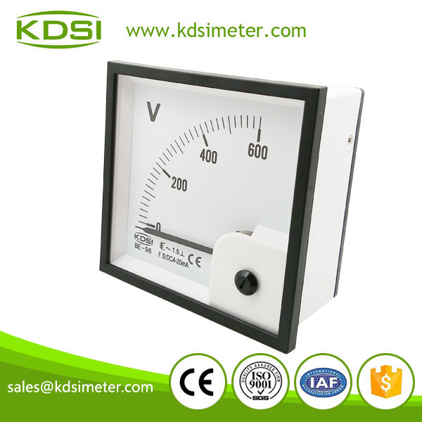 Square type BE-96 96*96 DC4-20mA AC600V display ammeter and voltmeter panel