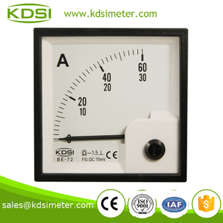 Hot sales BE-72 72*72 DC 75mV 60A electronic ammeter voltmeter