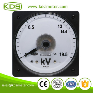 Hot Selling Good Quality LS-110 AC19.5kV 14.4kV/220V wide angle marine analog panel ac voltmeter