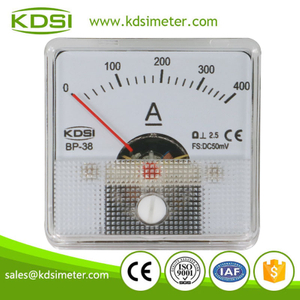 Small & high sensitivity BP-38 DC50mV 400A panel analog dc high precision ammeter