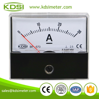 Hot Selling Good Quality BP-670 DC10V 30A analog dc panel mount ammeter
