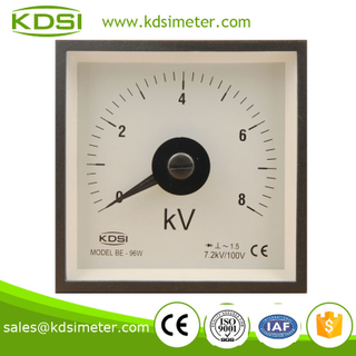Wide angle BE-96W AC Voltmeter with rectifier 8KV 7.2KV/100V panel mechanical voltmeter