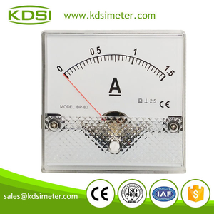 High quality professional BP-80 80*80 DC1.5A panel mount current meter