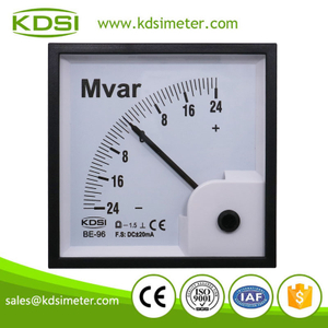 High quality BE-96 DC+-20mA +-24Mvar panel analog current display reactive power meter