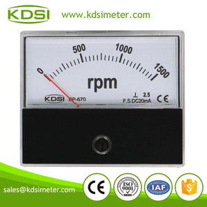 Easy installation BP-670 DC20mA 1500rpm panel analog electronic rpm meter