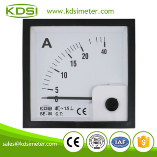 Instant flexible BE-80 AC20A analog panel ac ammeter