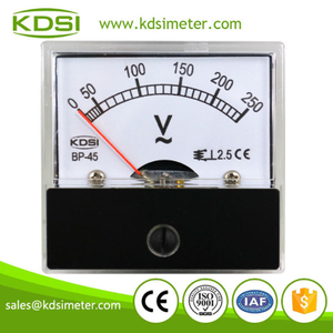 Easy installation BP-45 AC250V mini panel analog ac ammeter ac voltmeter
